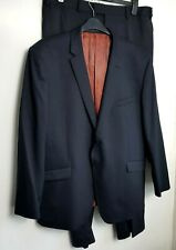 TED BAKER ELEVATED MENS SUIT JACKET & TROUSERS CH 44'' (50R) W38'' BLACK STRETCH