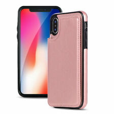 Leather Wallet Case Card Shockproof Holder Cover for iPhone XS Max XR 7 8 6S 5E
