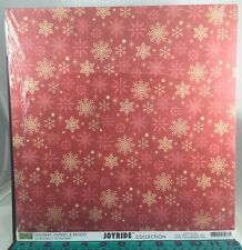 Scrapbook Paper 12 x12 (25 sheets) Joyride-Cheery and Bright  double sided