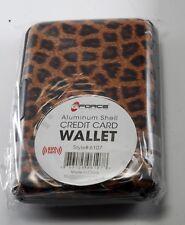 Gforce Credit Card ID Holder Slim Money Aluminum Hard Shell RFID Blocking Silver