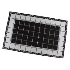 Non-slip Black White Water Absorbent Entrance Mat Kitchen Bathroom Floor Mat