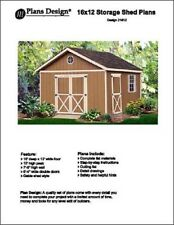 16' x 12' Classic Garden Gable Storage Shed Project Plans - Design #21612