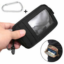 Tactical Wallet Card Key Holder Money Pouch Pack Outdoor Waist Bag Case Black