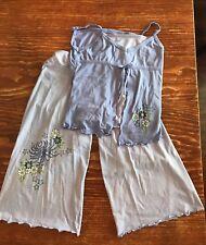American Girl Summer Purple Pajama PJ Set girls size medium