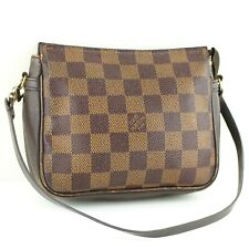 LOUIS VUITTON TROUSSE MAKEUP Pouch Hand Bag Purse Damier N51982 Brown