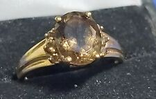 9ct Smoky Quartz QVC Ladies Ring.CC41