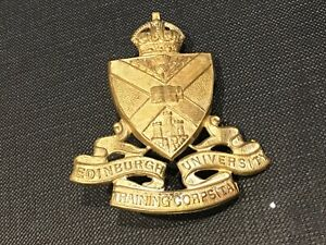 "Edinburgh University Training Corps "" TA "" Cap Badge"