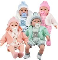 """12"""" Lifelike Large Size Soft Bodied Baby Doll Girls Boys Dolly Toy With Sounds"""