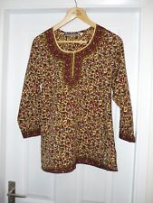 Multi coloured paterned Tunic top by A&R fashions, UK size 10 (EU38)