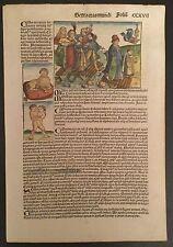 """Blatt CCXVII """"VERSEHGANG"""" aus der Schedel Weltchronik 1493, Dürer, Mende 25"""