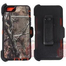 For Apple Iphone 6s Orange/Tree Camo Defender Case Cover (Clip Fits OtterBox