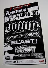 down 2014 Concert Poster orange goblin Blast King Parrot punk rock