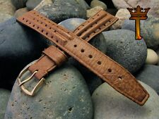 """11/16"""" 18mm Perforated Rally Strap New Old Stock 1970s Vintage Watch Band NOS"""