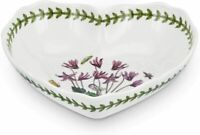 Portmeirion Botanic Garden Scalloped Edge Porcelain Heart Shaped Dish, 8.5 Inch