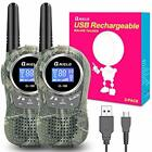 QNIGLO Camping Walkie Talkies for Kids Rechargeable Camo Kids Walkie Talkies ...
