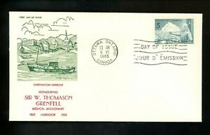 Postal History Canada #438 FDC Unknown W Grenfell Medical Missionary 1965 ON
