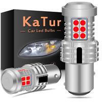 2 x ampoule CANBUS 24W LED 1157 BAY15D P21/5W Rouge Voiture Feux Jour Clignotant