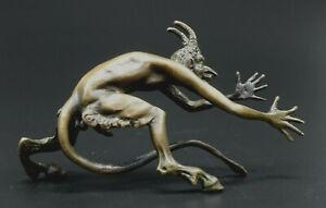 Skulptur Figur Teufel Faun Bronze Wien Fritz Bermann Erotica