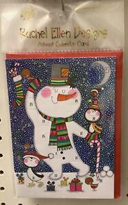 Rachel Ellen Advent Calendar Christmas Wishes Card Snowman