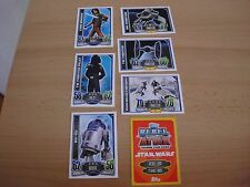 Topps Star Wars Rebel Attax 1,Karten ,7 Basiskarten 1,16,20,37,44,83,96 rot/gelb