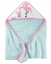 New Carter's Hooded Bath Towel Happy Flamingo Mom & Baby Terry Material NWT