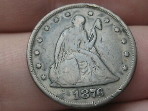 1876 Seated Liberty Silver Twenty 20 Cent Piece