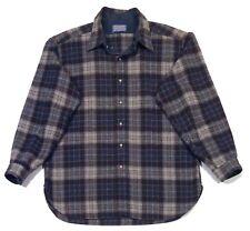 PENDLETON WOOLEN MILLS Made In USA Men's 100% Virgin Wool LS Shirt XL