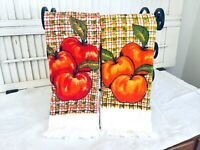 Vintage 70's ROYAL TERRY TREASURE OF CALIFORNIA Dish Towels Apples & Oranges