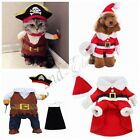 For Halloween Christmas Pet Puppy Dog Cat Pirate Costume Outfit Jumpsuit Clothes