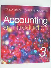 ACCOUNTING: AN INTRODUCTION  3RD Ed. ATRILL, McLANEY, HARVEY, JENNER -NO CD-ROM