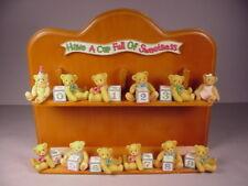 Enesco Teddy Bears collectible figurines Priscilla Hillman figures display stand