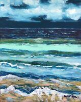 BEACH Ocean Sea Original Art PAINTING Dan Byl Modern Contemporary Large 5x4ft