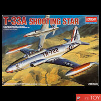 Academy 1/48 T-33A Shooting Star US Trainers Aircraft Plastic model kit #12284