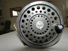 V good vintage original black face hardy marquis no. 2 salmon fly fishing reel
