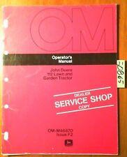 John Deere 112 Lawn & Garden Tractor S/N 260001-300000 Owner Operator Manual '72