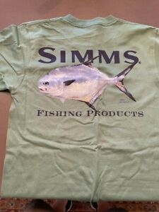 VINTAGE Simms Fishing Products Mike Stidham T-Shirt Size S