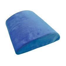 BLUE HALF MOON MEMORY FOAM LEG KNEE BACK NECK REST SUPPORT PILLOW BED CHAIR