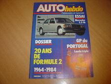 Auto hebdo N°443 Mercedes 190 E 2.3-16.Gp du Portugal