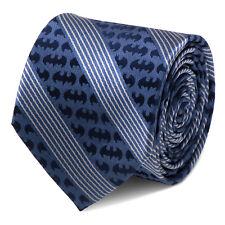 DC Comics Batman Pinstripe Navy Tie, Officially Licensed