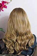 NEW AHUVA WIGS EUROPEAN HUMAN HAIR WIG 21' BROWN W/ BLONDE #8/12 21 INCH SHEITAL