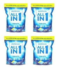 168 x Astonish 5 In 1 Dishwasher Tablets With added Salt & Rinse Aid - Lemon