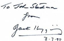 JACK HIGGINS SIGNED AUTOGRAPH
