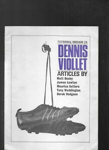 DENNIS VIOLLET TESTIMONIAL BROCHURE(MANCHESTER UNITED AND STOKE CITY)