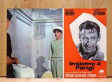 INSIEME A PARIGI fotobusta poster Paris When It Sizzles Audrey Hepburn CA21
