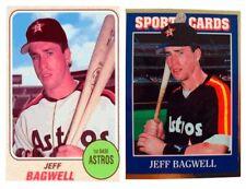 (2) Jeff Bagwell Odd-Ball Baseball Trading Card Lot Houston Astros
