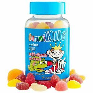GummiKing, Vegan Multi-Vitamin & Mineral, For Kids, 60 Gummies - No Gelatin