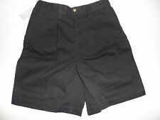 New Basic Editions Mens Pleated Shorts with Side Elastic Waist Size: 30 Black