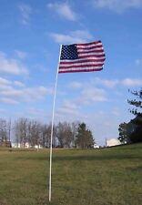 21' Ft White Fiberglass Telescoping Flagpole Flag Pole