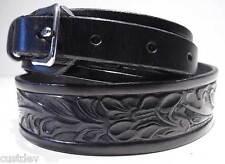 Brown / Black LEATHER WESTERN EMBOSSED RANGER Belt 655R
