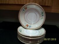 "Set of 8 Saucers from Heinrich & Co Selb Bavaria  6"" Cream Rim w/ Floral pattern"